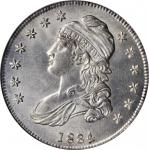 1834 Capped Bust Half Dollar. O-111. Rarity-1. Small Date, Small Letters. MS-64 (NGC).
