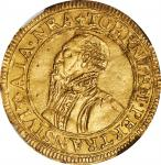 GERMANY. Cologne. 2 Ducats, 1577. Salentin von Isenburg. NGC EF Details--Removed from Jewelry.