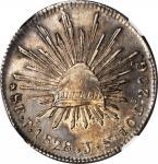 MEXICO. 8 Reales, 1828-Pi JS. San Luis Potosi Mint. NGC AU Details--Plugged.
