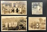 1930-1940年代中国妇女及风景老照片4 枚,尺寸不一.