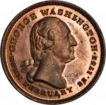 1799 (C. 1860s) Washington's Tomb. Copper. 31 mm. By Joseph H. Merriam. Musante GW-318. Baker-122A.