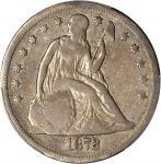 1872-CC Liberty Seated Silver Dollar. OC-1. Rarity-3+. Fine-12 (PCGS).