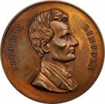 Undated (ca. 1924) Abraham Lincoln Medal. Copper. 39.5 mm. Obverse by Eymann, struck by Thomas Elder