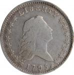 1795 Flowing Hair Half Dollar. O-113a, T-14. Rarity-4. Two Leaves, A/E in STATES. VG-8 (PCGS).