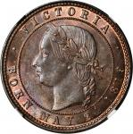 NEW ZEALAND. Auckland. Auckland Licensed Victuallers Association. Penny Token, ND (ca. 1874). NGC MS