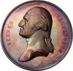 Circa 1857 Tomb of Washington medal by Smith and Hartmann. Musante GW-207, Baker-117. Silver. SP-63