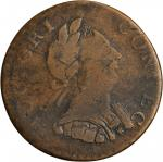 1787 Connecticut Copper. Miller 1.3-L, W-2735. Rarity-6. Mailed Bust Right. VG-10 (PCGS).