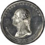 1889 Inauguration Centennial Medal. White Metal. 54 mm. Musante GW-187, Baker-691, Douglas 52A. Spec