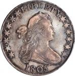 1805 Draped Bust Half Dollar. O-106, T-13. Rarity-3+. EF-40 (PCGS).