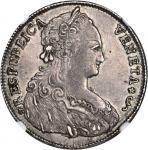 ITALY. Venice. 1/2 Tallero, 1792. Ludovico Manin (1779-89). NGC AU-55.