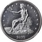 1877 Trade Dollar. MS-62 PL (NGC).