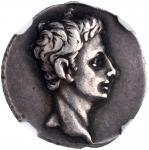 AUGUSTUS, 27 B.C.- A.D. 14. AR Denarius (3.76 gms), Uncertain mint in Spain, possibly Colonia Patric
