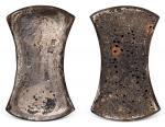 """金代""""官 银市""""带花押五十两银铤一枚,重量:1889.3克,品相颇佳,少见"""