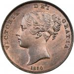 Victoria (1837-1901), Penny, 1854, plain trident, young head left, rev. Britannia seated right (Peck
