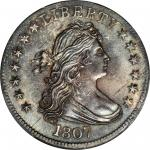 1807 Draped Bust Quarter. B-1. Rarity-2. MS-64 (PCGS).
