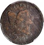 1795 Liberty Cap Half Cent. C-1. Rarity-2. Lettered Edge, With Pole. VF Details--Environmental Damag