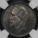 FRANCE Napoleon III ナポレオン3世(1852~70) Franc 1868A  NGC-MS64 UNC+