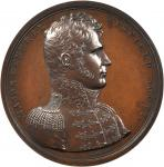 1814 Major General Winfield Scott. Bronzed Copper. 65 mm. By Moritz Furst. Julian MI-20. Choice Mint