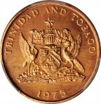 TRINIDAD & TOBAGO. 5 Cents, 1975. PCGS SPECIMEN-67 Red Gold Shield.