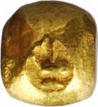 1851-68年泰国1/8泰铢子弹金币。拉玛四世。THAILAND. Gold 1/8 Baht (Fuang) Bullet Money, ND (1851-68). Rama IV. EXTREM