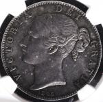GREAT BRITAIN Victoria ヴィクトリア(1837~1901) Crown 1845 NGC-AU55 EF