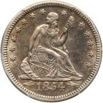 1854-O Liberty Seated Quarter Dollar. Arrows, huge O. PCGS AU55