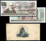 Costa Rica, black and white reverse composite essay of monument on card, ca. 1930s, also including a