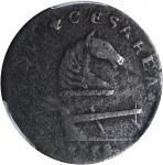 1788 New Jersey Copper. Maris 77-dd, W-5535. Rarity-3. Die Stage 1. Horses Head Right, Running Fox B