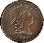 1795 Liberty Cap Half Cent. C-1. Rarity-2. Lettered Edge, With Pole. EF Details--Cleaned (PCGS).