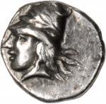 BOSPORUS. Phanagoria. AR Diobol (1.12 gms), ca. 390 B.C. VERY FINE.