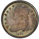 1831 Capped Bust Quarter. Browning-4. Rarity-1. Small Letters. Mint State-66 (PCGS).PCGS Popul