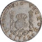 1762-Mo MM年一圆银币。墨西哥城造币厂,查尔斯三世。MEXICO. 8 Reales, 1762-Mo MM. Mexico City Mint. Charles III. PCGS Genu
