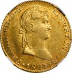 MEXICO. Guadalajara. War of Independence. 8 Escudos, 1821-Ga FS. Guadalajara Mint. NGC AU-55.