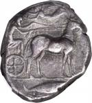 SICILY. Messana. AR Tetradrachm (17.15 gms), ca. 428-426 B.C. NGC VF, Strike: 4/5 Surface: 4/5.