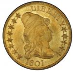 1801 Capped Bust Right Eagle. 1801 Bass Dannreuther-2. Rarity-2. Mint State-65 (PCGS).
