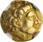 GAUL. Carnutes. AV 1/4 Stater (1.77 gms), ca. 2nd-1st Centuries B.C. NGC VF, Strike: 5/5 Surface: 4/