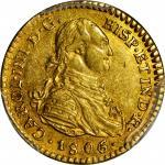 COLOMBIA. Escudo, 1806-JT. Popayan Mint. PCGS AU-55 Gold Shield.