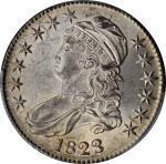 1823 Capped Bust Half Dollar. O-105. Rarity-1. MS-63 (PCGS).
