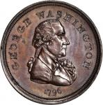 1796 Repub. Ameri Piece. Bronze. 33 mm. Baker-68. Rarity-5. Plain Edge. Mint State.