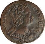 1785 Connecticut Copper. Miller 1-E, W-2300. Rarity-4. Mailed Bust Right. EF-40 (PCGS).