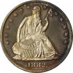 1882 Liberty Seated Half Dollar. Proof-67 Cameo (PCGS). CAC.