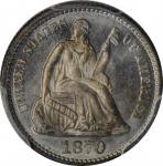 1870 Liberty Seated Half Dime. MS-66 (PCGS). CAC.