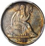 1838-O Liberty Seated Dime. No Stars. Fortin-102. Rarity-3. AU-55 (PCGS).