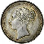 Victoria (1837-1901), Shilling, 1854, the 4 struck over a higher 4, or an inverted 1, second young h