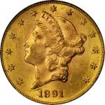 1891-S Liberty Head Double Eagle. MS-63 (PCGS).