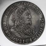 "HOUSE OF HABSBURG Ferdinand III フェルディナンド3世(1637~57) Taler 1651KB NGC-AU Details""Environmental Damage"