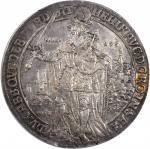 GERMANY. Quedlinburg. Taler, 1617. Dorothea von Sachsen (1610-17). NGC AU-53.