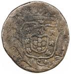 GOA: José I, 1750-1777, AE ½ tanga (30 reis) (20.57g), 1774, KM-135, small testmark on reverse, glos