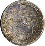 COLOMBIA. 1844-RS 8 Reales. Bogotá mint. Restrepo 194.10. EF Detail — Tooled (PCGS).