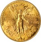 1943年50比索鹰洋金币。墨西哥城造币厂。MEXICO. 50 Pesos, 1943. Mexico City Mint. PCGS MS-63 Gold Shield.
